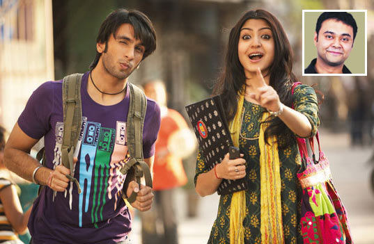 Ranveer Singh and Anushka Sharma in Band Baaja Baarat. Inset: Maneesh Sharma