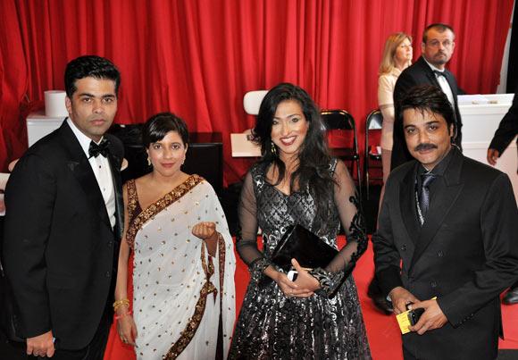 Karan Johar and Zoya Akhtar with Rituparna Sengupta and Prosenjit Chatterjee