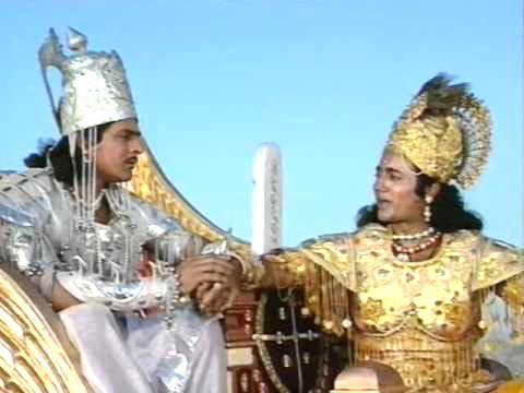 Feroz Khan with Nitish Bharadwaj in Mahabharat
