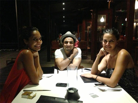 Lisa Haydon, Vir Das and Neha Dhupia