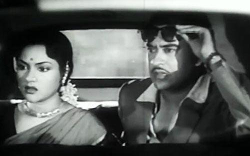 Kishore Kumar with Vyjayanthimala in New Delhi