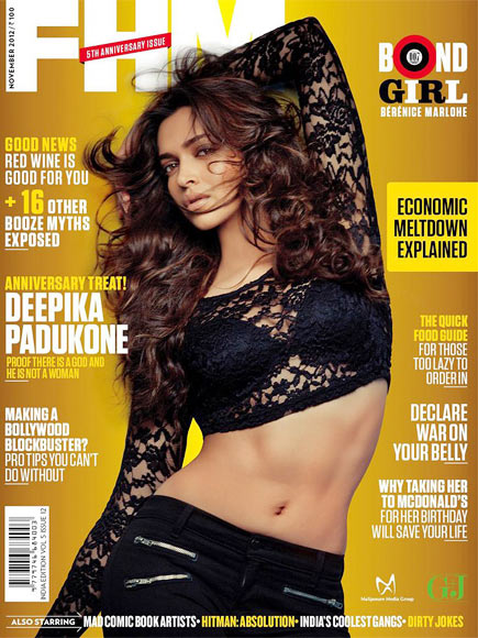 Deepika Padukone on the cover of FHM magazine