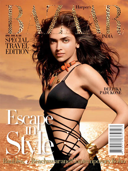 Deepika Padukone on the cover of Harper's Bazaar