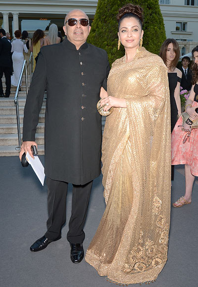 Tarun Tahiliani and Aishwarya Rai Bachchan
