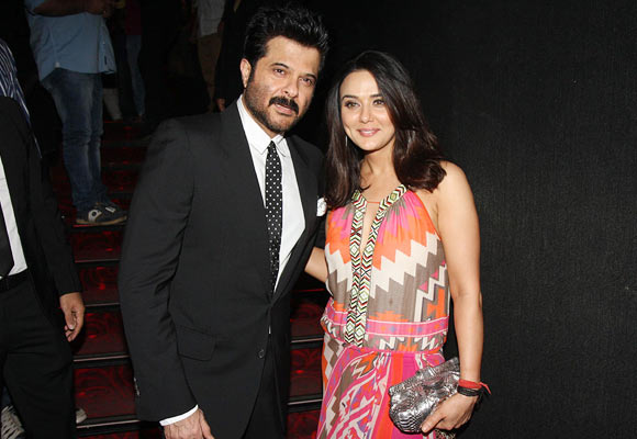 Anil Kapoor and Preity Zinta