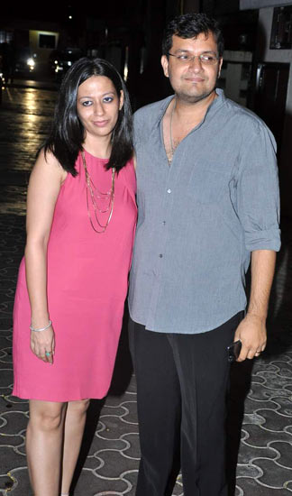 Karan Malhotra with wife