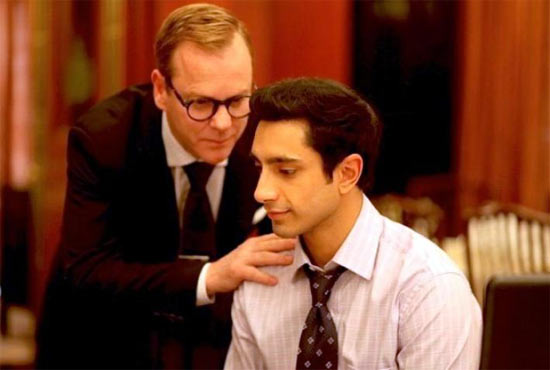 Kiefer Sutherland and Riz Ahmed in The Great Gatsby