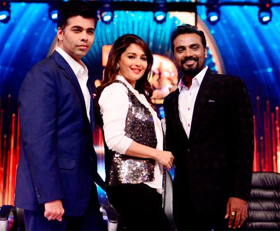 Karan Johar, Madhuri Dixit and Remo D'Souza in Jhalak Dikhla Jaa-6