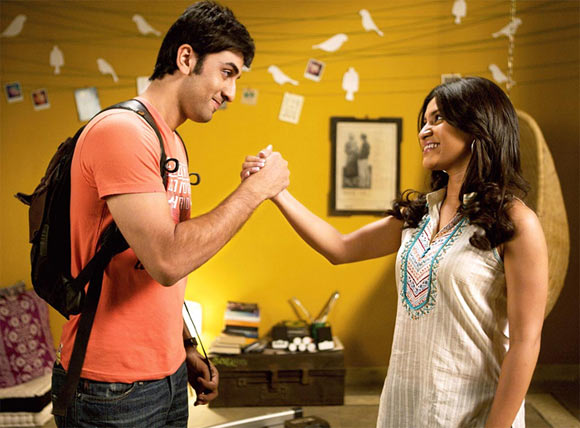 Ranbir Kapoor with Konkona Sen Sharma in Wake Up Sid