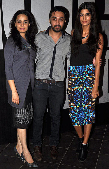 Siddhaant Kapoor with mum Shivangi and girlfriend Erika Packard