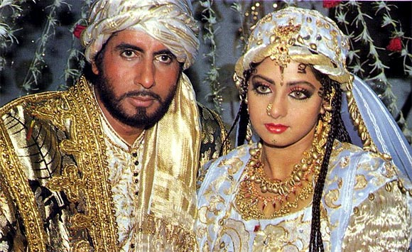 Amitabh Bachchan and Sridevi in Khudah Gawah