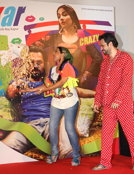 Vidya Balan and Emraan Hashmi at Ghanchakkar film promotions