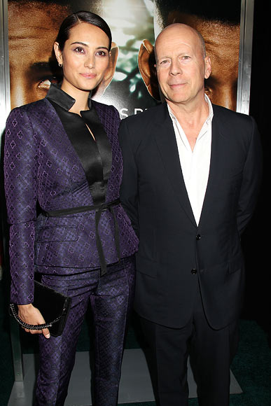 Bruce Willis with wife Emma Hemming