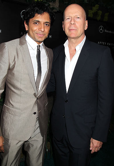 Bruce Willis and M Night Shyamalan