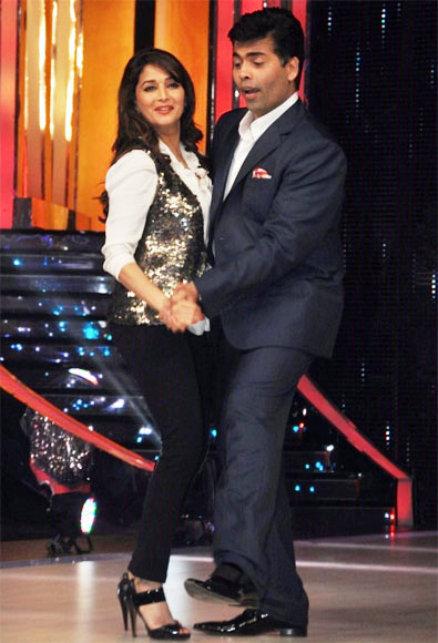 Madhuri Dixit and Karan Johar on Jhalak Dikhhla Jaa 6