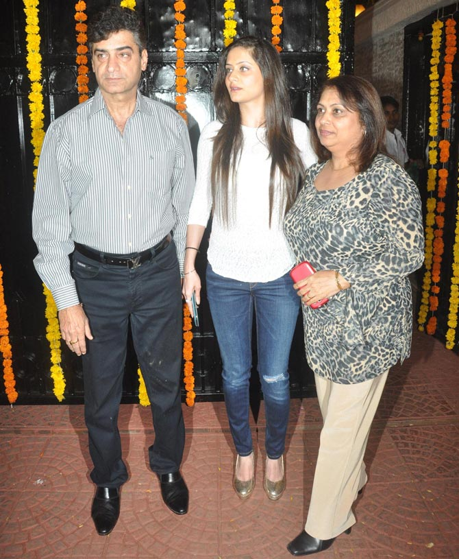Indra Kumar with his family