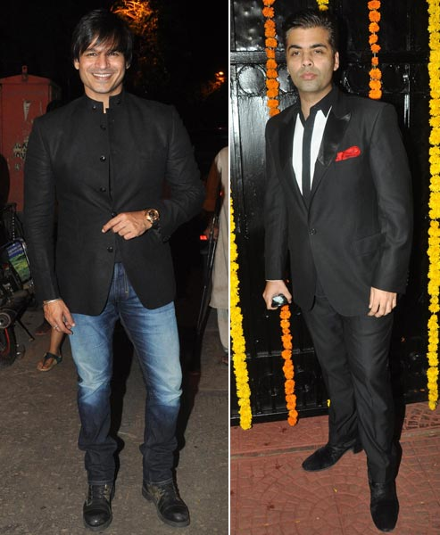 Vivek Oberoi and Karan Johar