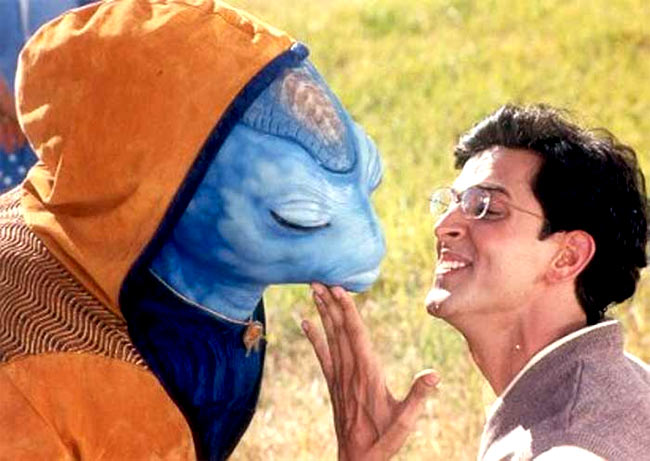Hrithik Roshan with Jadoo in Koi... Mil Gaya