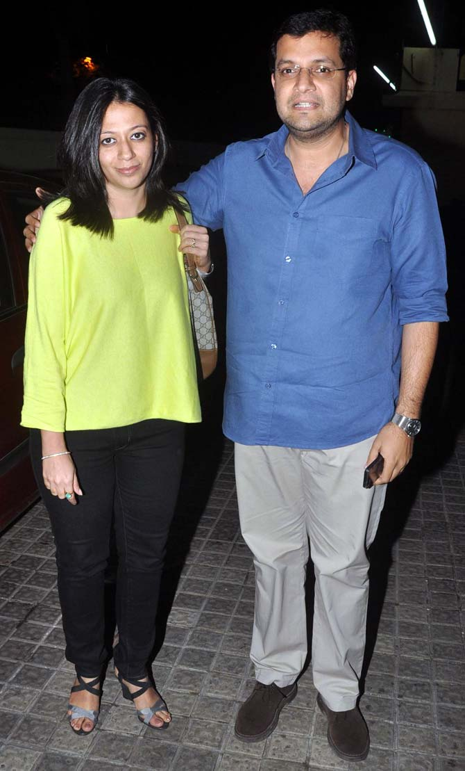 Karan Malhotra with his wife