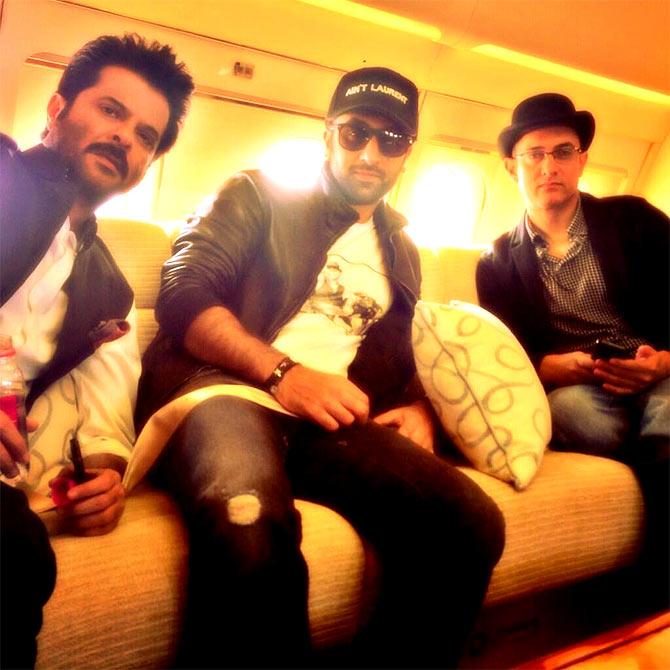 Anil Kapoor, Ranbir Kapoor and Aamir Khan