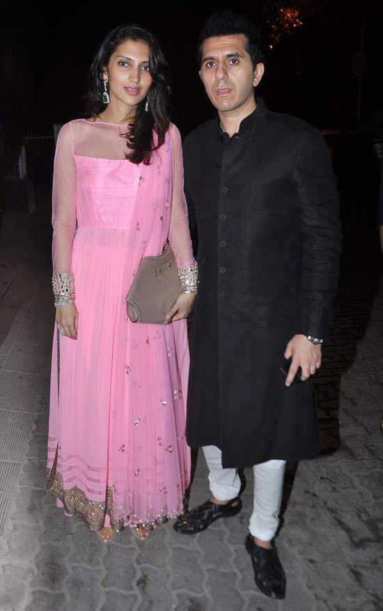 Ritesh Sidhwani with Dolly Sidhwani