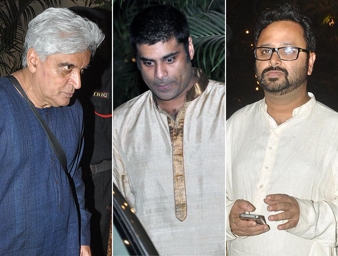 Javed Akhtar, Sikhander Kher and Nikhil Advani