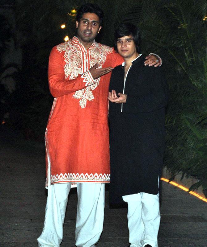 Abhishek Bachchan with Vivaan Shah