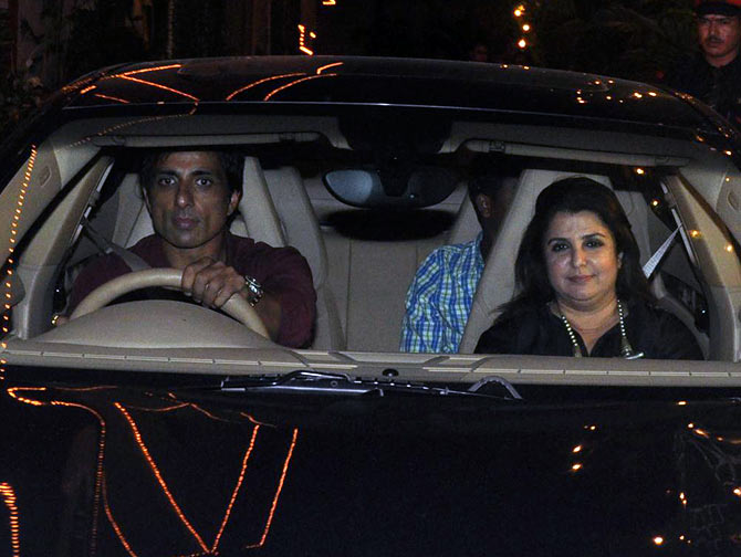 Farah Khan and Sonu Sood