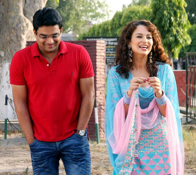 R Madhavan and Kangna Ranaut in Tanu Weds Manu