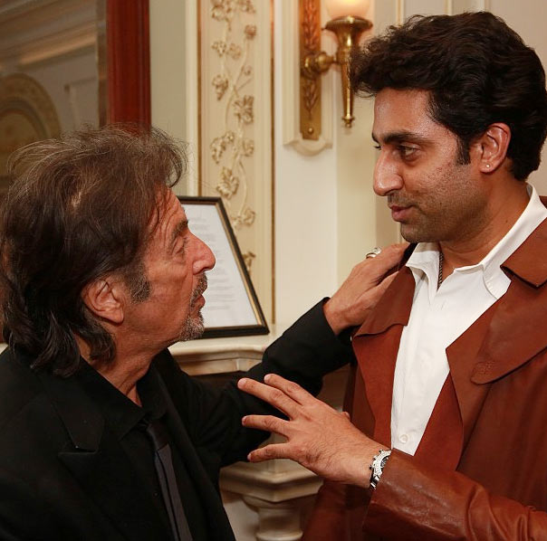 Al Pacino and Abhishek Bachchan