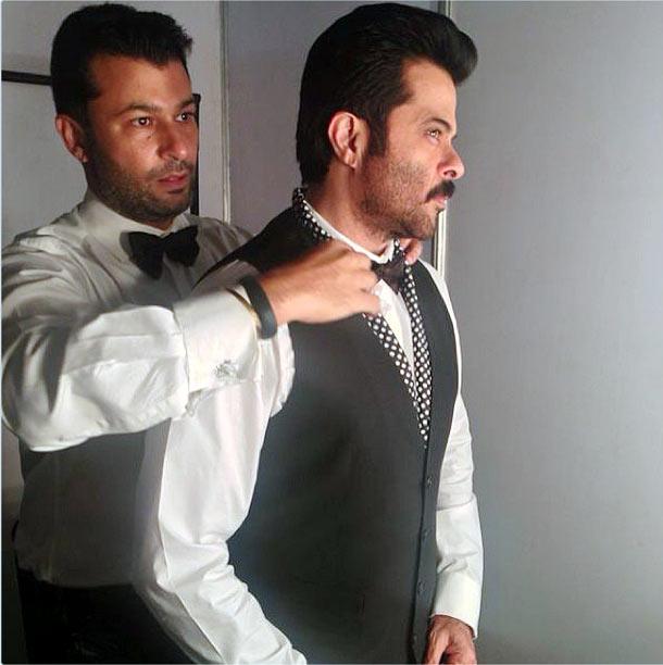 Fashion designer Ashish Soni and Anil Kapoor