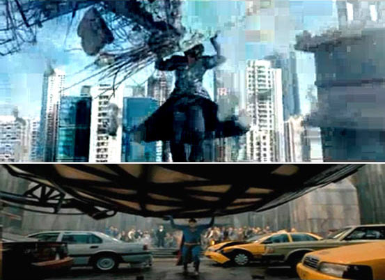 Scenes from Krrish 3 and Man Of Steel