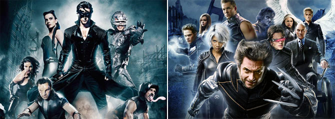 The mutants in Krrish 3 and X-Men