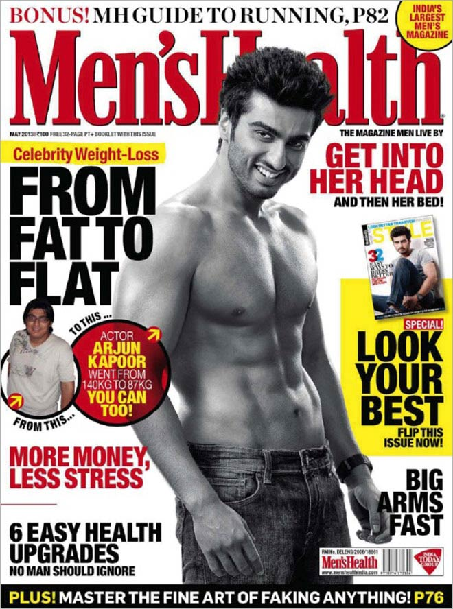 Arjun Kapoor on Men's Health cover