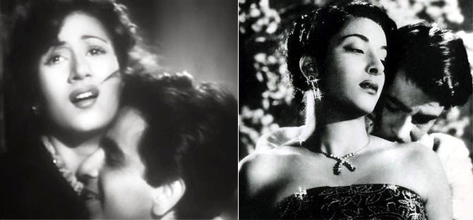 Madhubala in Taraana and Nargis in Awara