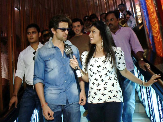 Hrithik Roshan with Garima at Maratha Mandir