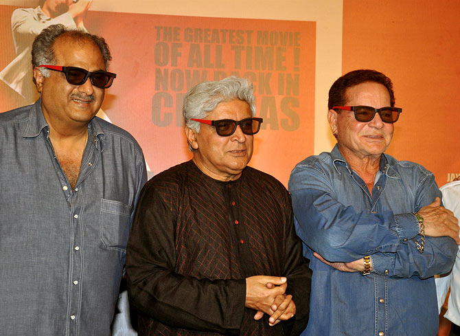 Boney Kapoor, Javed Akhtar and Salim Khan