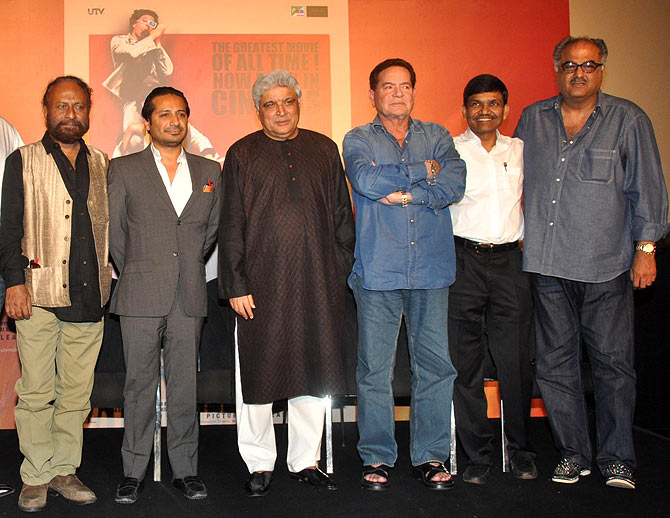 Ketan Mehta, Sasha Sippy, Javed Akhtar, Salim Khan, Jayantilal Gada and Boney Kapoor