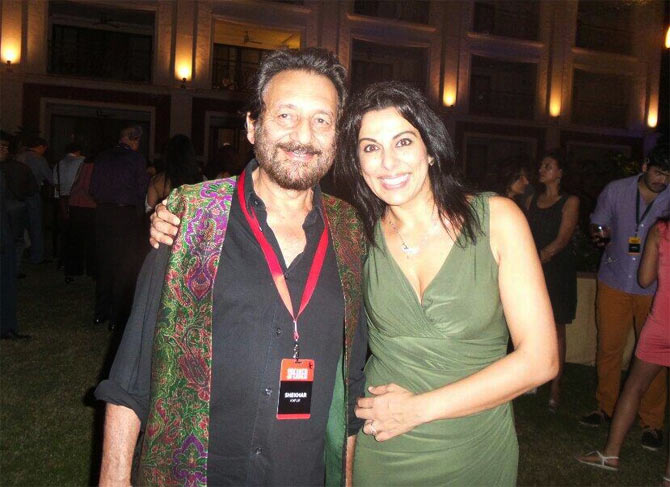 Shekhar Kapur and Pooja Bedi