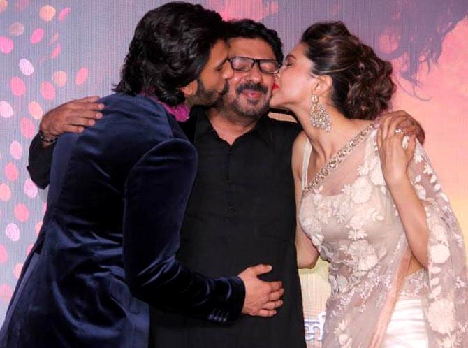 Ranveer Singh, Sanjay Leela Bhansali and Deepika Padukone