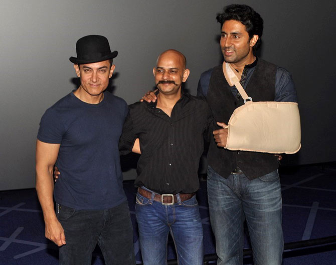 Aamir Khan, Vijay Krishna Acharya and Abhishek Bachchan