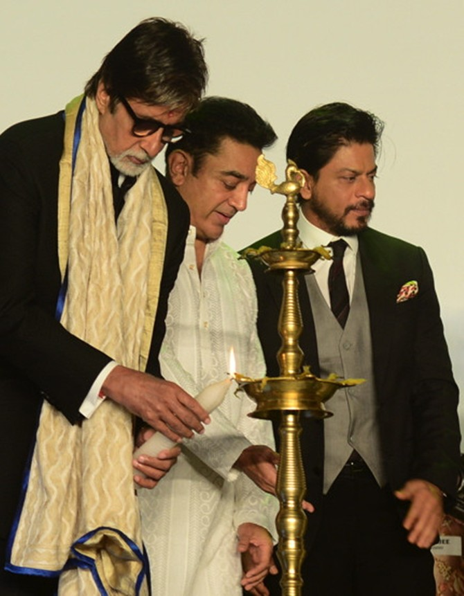 Amitabh Bachchan, Kamal Haasan and Shah Rukh Khan