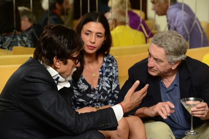 Amitabh Bachchan with Drena and Robert De Niro