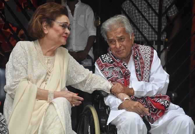 Krishna Raj Kapoor and Shashi Kapoor