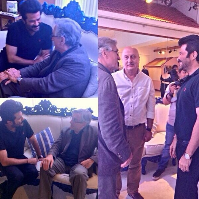 Anil Kapoor with Anupam Kher and Robert De Niro