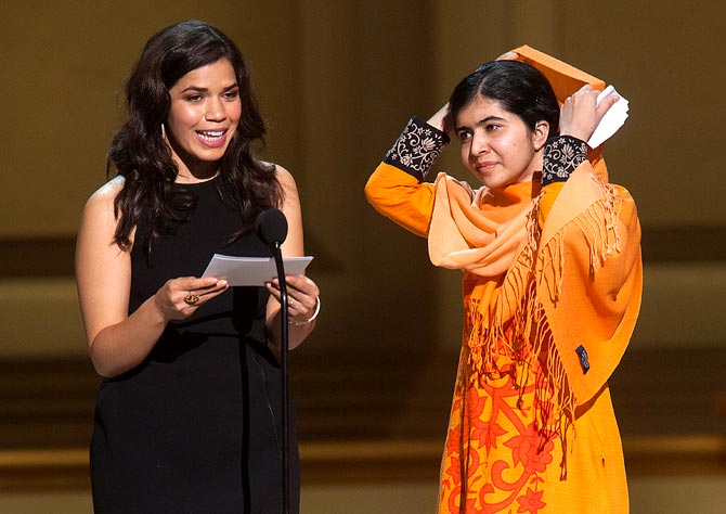 America Ferrera and Malala Yousafzai