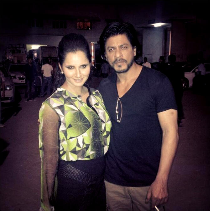 Sania Mirza and Shah Rukh Khan
