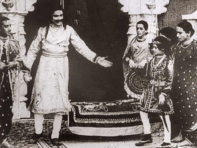 A still from the original Raja Harishchandra