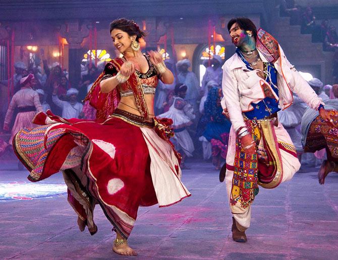 Ranveer Singh and Deepika Padukone in Goliyon Ki Rasleela Ram-Leela