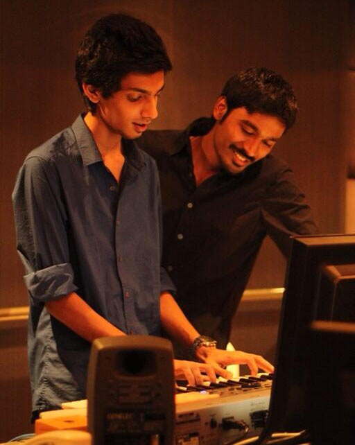Music composer Anirudh Ravichander with Dhanush